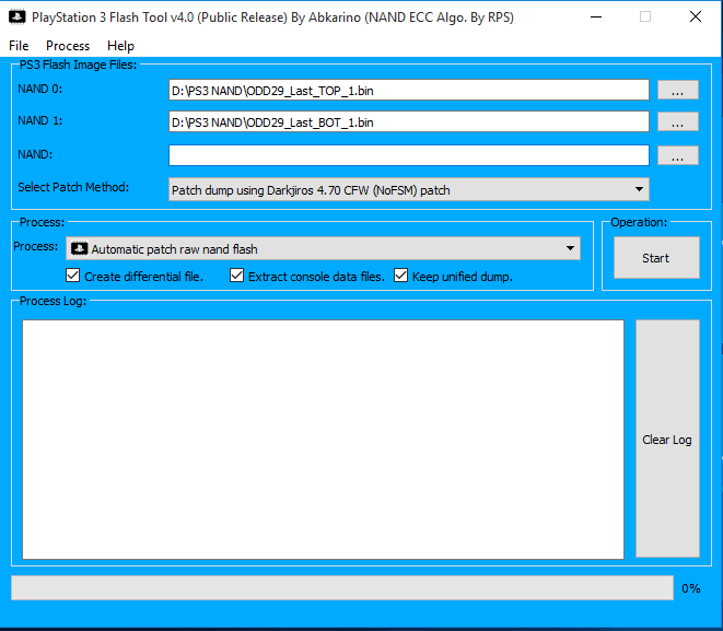 PS3 NAND Flash Tool v4.0