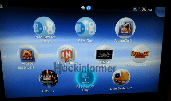 PSTV-PS3 remote play