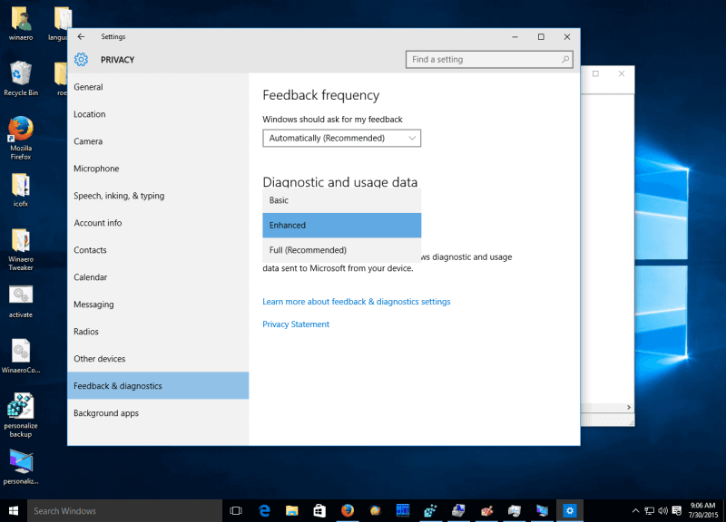 Windows-10-feedback-options