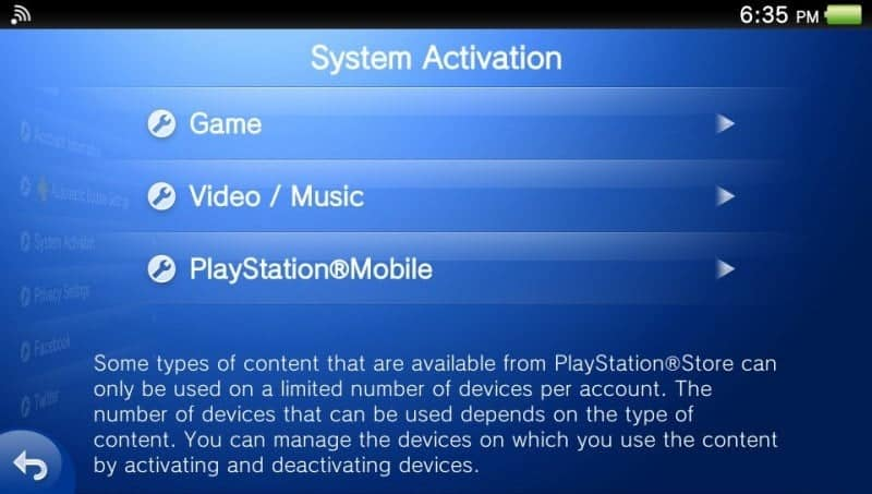 ps vita activation