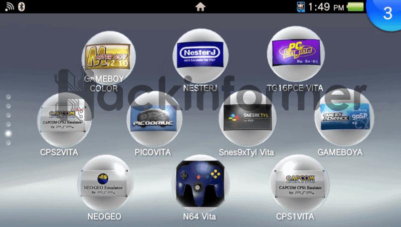 Emulator & Homebrew bubbles