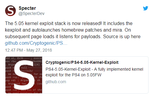 PS4 FW 5 05 kernel exploit released!! - Hackinformer