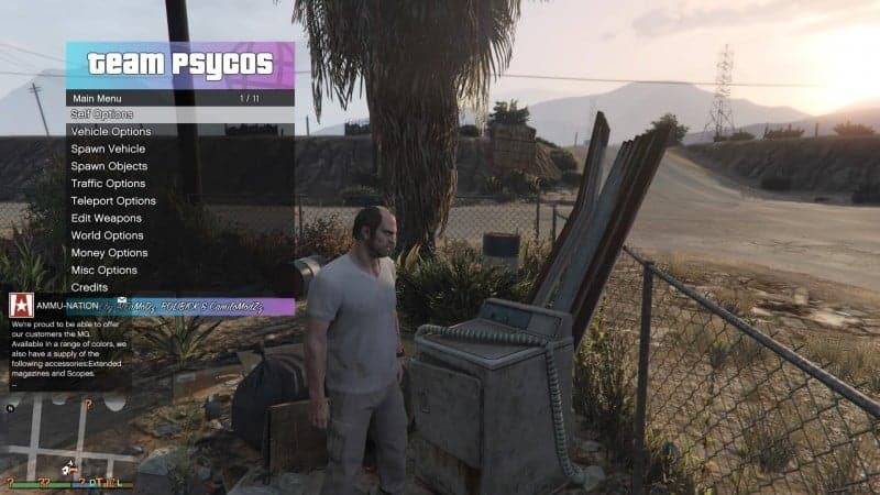 GTA V mod/cheat menu