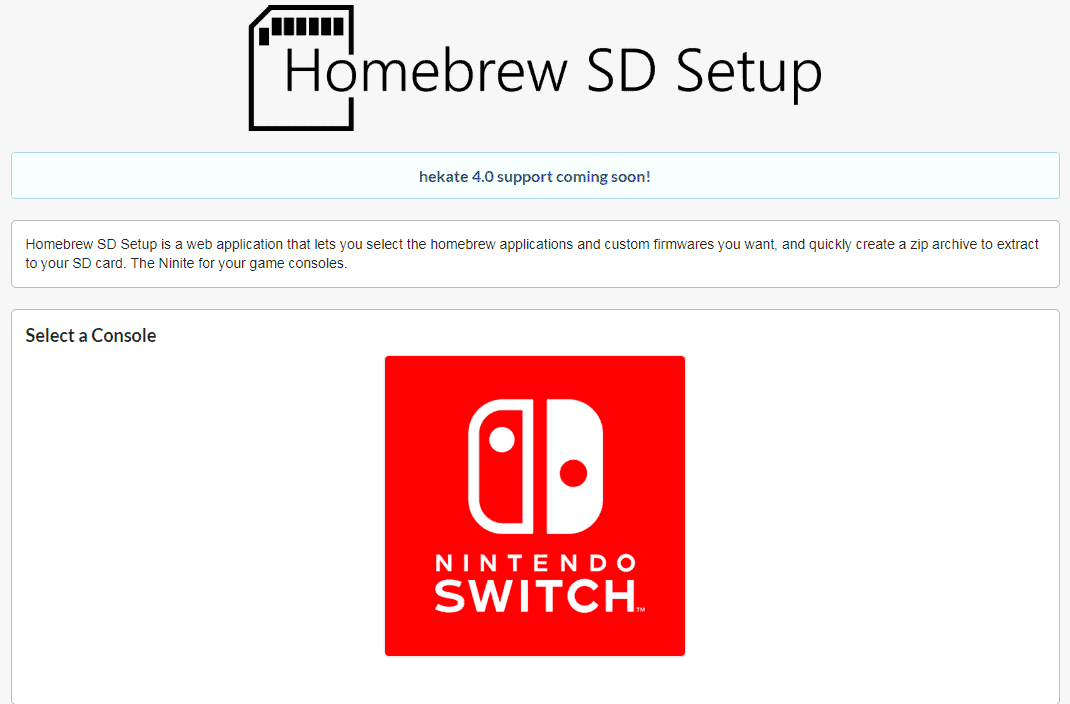 One stop shop for Nintendo Switch CFW, Homebrew, Emulators
